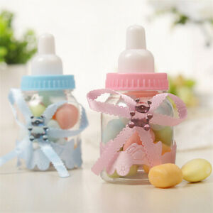 12PCS Plastic Mini Feeder Bottles Girl Young Baby Shower Chocolate Candy Box.ec