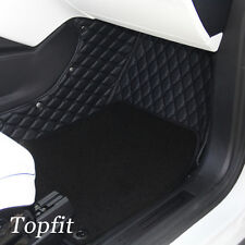 Topfit Floor Mat & Trunk Mat & 3rd Row Seat Cover for Tesla  X 6 Seat (Black)