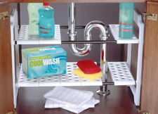 KITCHEN RACK ORGANISER ADJUSTABLE REMOVABLE UNDER SINK STORAGE UNIT TIDY ADDIS