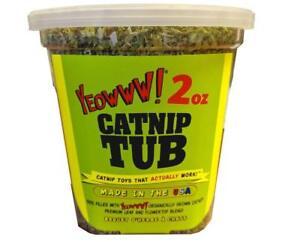 Yeowww! 100% Organic Catnip Tub– 2 oz  Organically Grown  (Free Shipping in USA)