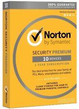 Norton Security Premium 3.0 for 10D PC/Mac/Phone Digital Download US Version