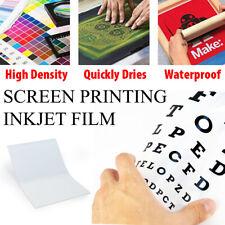 100 Sheets 13 X 19 Waterproof Inkjet Transparency Film Silk Screen Printing