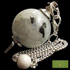Rainbow Moonstone Radiesthésie Pendule boule sphère cristal Renforce l'intuition