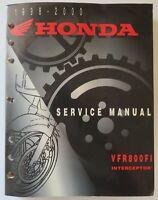 Factory Service Repair Shop Manual 1998-2000 Honda VFR800FI Interceptor 61MBG02