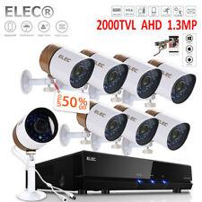 ELEC 8CH AHD DVR CCTV 2000TVL Video 8X Cameras Home Security Camera System 1080P