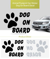 Dog on Board Character Car Decal Animal Footprint Sticker Pet Paw