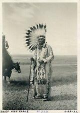 Chief High Eagle Native American Indian Photograph: Oglala Lakota Elder 1951
