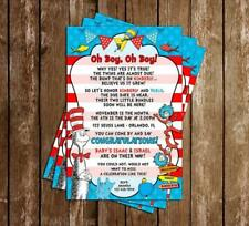 Thing One & Two - Dr Seuss - Twins - Baby Shower Invitations - 15 Printed