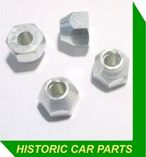 4 PLATED WHEEL NUTS for STEEL WHEELS on Triumph TR5 TR250 & TR6 1967-76
