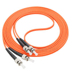 20M ST/UPC-ST/UPC Fiber Optic Patch Cord Duplex Multimode OM1 62.5 Fiber Cable