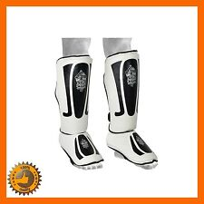 SHIN INSTEP PADS MMA LEG FOOT GUARDS PROTECTOR MUAY THAI KICK BOXING UFC KARATE