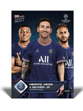MESSI MBAPPE NEYMAR @ PSG Paris Saint-Germaine UCL TOPPS NOW Card 13 In Hand