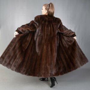9646 GORGEOUS REAL MINK COAT LUXURY SWINGER VERY LONG BEAUTIFUL LOOK SIZE 3XL
