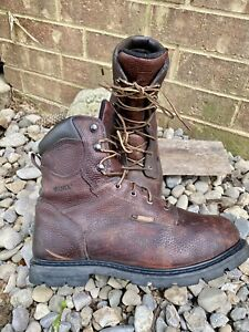 Worx By Red Wing #5828 Boots Size 11.5 W Met Guard Steel Toe Work