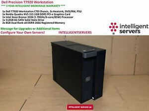 Dell Precision T7920, 1x Bronze 3104, 16GB RAM, 1x 512GB SSD, Nvidia NVS 315