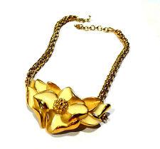Bijou collier Lanvin Germany alliage doré émaillé necklace