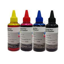 KIT 4 da 100ml inchiostro Colori Ricarica Cartucce per Brother Cano Epson HP