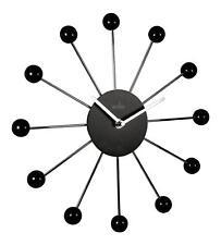 Acctim 27163 Negro y Plateado Hubble Reloj de Pared de Cuarzo