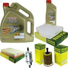 Inspection Kit Filter Castrol 6L Oil 5W30 for Audi DD Roadster 8J9 3.2