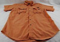 Gander Mountain Guide Series Men's Shirt XL Short Sleeve Orange Vented Fishing