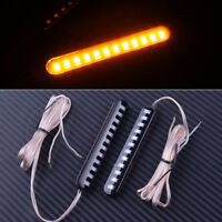 2pcs Sequential Flowing Motorcycle 12 LED Strips Turn Signal Light Tail Blinker