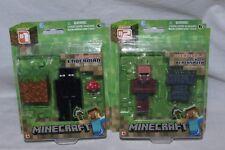 Minecraft Overworld Enderman & Villager Blacksmith complètement articulés figures