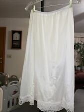 """Women'S Half Slip - Size 18/20"""" - White Nylon w/Lace - Preowned 28 Inches Long"""