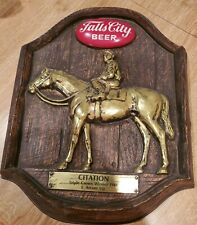 "Vintage, original Falls City Beer Kentucky Derby sign - ""CITATION"" Triple Crown"
