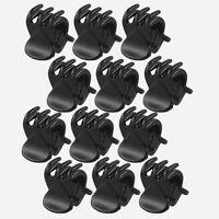 12 Pcs Set Women's Black Plastic Mini Hairpin 6 Claws Hair Clip Clamps Kits