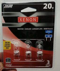 3 Pack Light Bulbs BPXN20 G8 Xenon 20 Watt Halogen 120 Volt G8 2 PIN Base