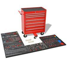 Neu 1125-tlg. Werkstattwagen gefüllt mit Werkzeugen Werkzeugwagen Stahl Rot DE