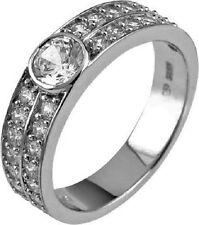 Modeschmuck-Ringe im Verlobung-Stil mit Zirkon-Hauptstein für Damen