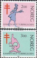 Norwegen 862-863 (kompl.Ausg.) postfrisch 1982 Tuberkulose