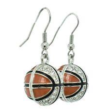 Basketball Earrings Made With Swarovski Crystal Orange Earring Jewelry Gift