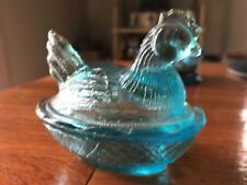 blue glass salt cellar
