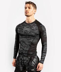 Venum Defender Rashguard - Long Sleeves - dark camo  für Grappling, MMA, u.v.m.