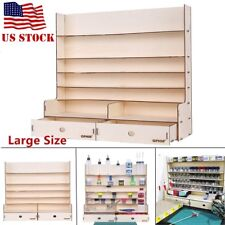 Wooden Storage Rack For Acrylic Tamiya Paint Mr Hobby Brush Color Plate US STOCK