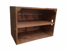 Crates4You -  Standard Wooden Apple Crate Box With Long Shelf