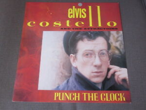 Elvis Costello 1983 Punch The Clock 12x12 Promo Cover Flat Poster Attractions