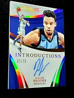 2017-18 DILLION BROOKS Immaculate Introductions /75 On Card Autograph RC Auto