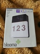 Blooma BURNET LED OUTDOOR MAINS OPERATED NUMBER WALL LIGHT