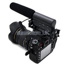 Pro Anti-choque DV Estéreo Micrófono Mic para DSLR Canon 5DII 3 7D D800 D7000