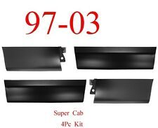 99 03 Ford 4Pc Front & Rear Outer Door Bottom Skin Set, Super Cab Trucks