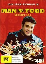MAN VS FOOD - SEASON 1 & 2 (4 DVD SET) BRAND NEW!!! SEALED!!!