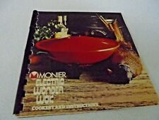 Monier Electric Wonder Wok Cookery Instruction Book