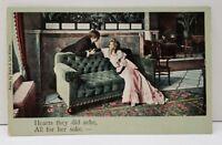 Scott & Van Altena Postcard Romance Song Series, All for her sake..Postcard B17