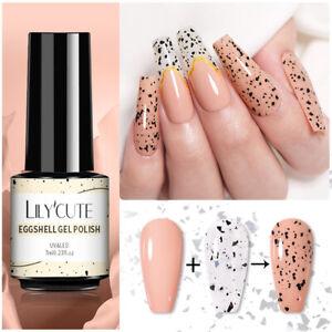 LILYCUTE Eggshell Gel Nagellack Transparent Gel Soak Off Nail Art Gel UV LED