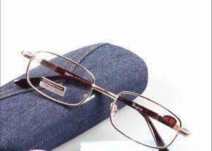 Real Glass Lens Reading Glasses 1 Pair.  +2.25