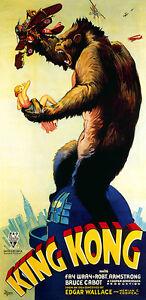King Kong Vintage Retouched & Restored 1 Piece 1.2 Meter Poster **UK SELLER**