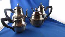 ancien service a café & thé  metal argenté epoque 1900 poiconne st LXVI